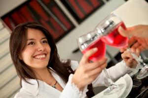 Woman toasting